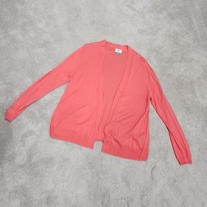 Coral Open Front Cardigan